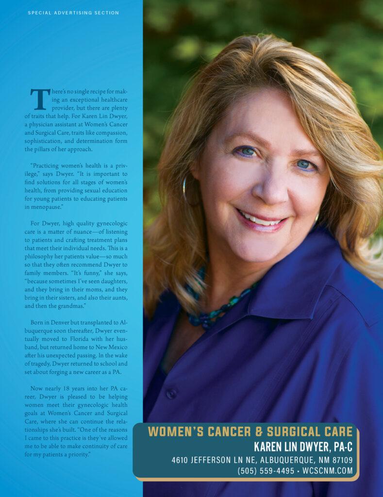 Karen Lin Dwyer, PA-C Women's Cancer Surgical Care